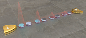 Edge-state Blockade of Transport in Quantum Dot Arrays